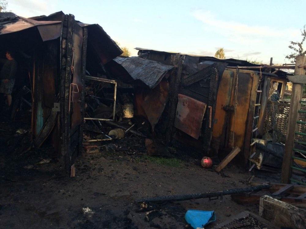 Пожар в частном доме на улице Попова