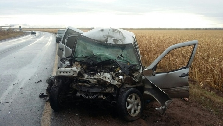На трассе под Бузулуком в столкновении «Шевроле» и грузовика погиб человек
